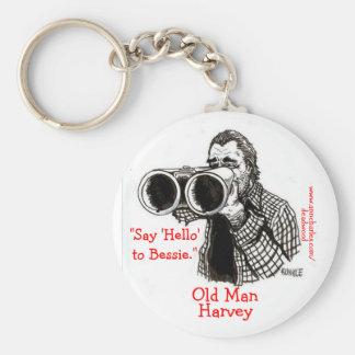 Porte-clés Vieil homme Harvey - porte - clé de bois mort