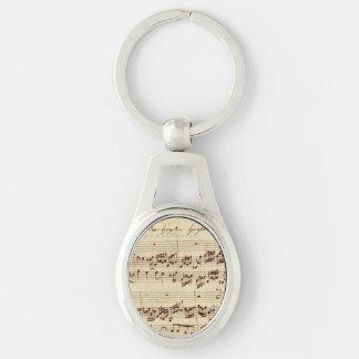 Porte-clés Vieilles notes de musique - feuille de musique de