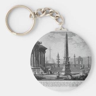 Porte-clés Vieux capitol qui a été allumé pour environ cent
