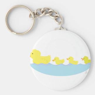 Porte-clés vilain petit canard dans un étang