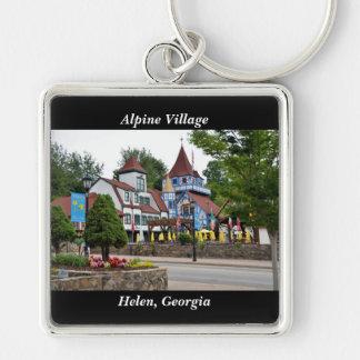 Porte-clés Village alpin Hélène, la Géorgie