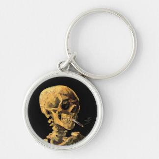 Porte-clés Vincent van Gogh - crâne avec la cigarette