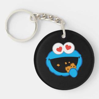 Porte-clés Visage de sourire de biscuit avec les yeux en
