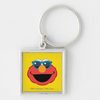 Porte-clés Visage de sourire d'Elmo avec des lunettes de