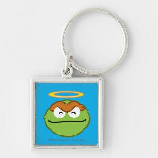 Porte-clés Visage de sourire d'oscar avec le halo