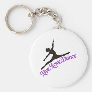 Porte-clés Vivant, amour, danse