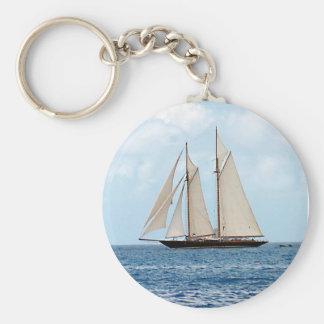 Porte-clés Voilier de schooner dans le BVI