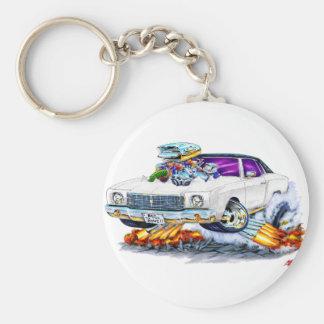 Porte-clés Voiture 1970 de blanc de Monte Carlo