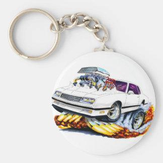 Porte-clés Voiture 1986-88 Blanc-Noire de Monte Carlo