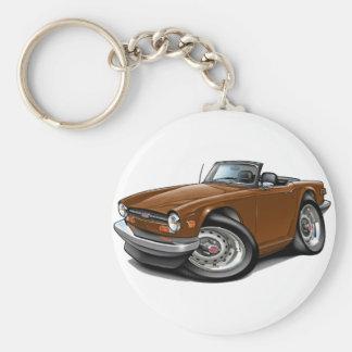 Porte-clés Voiture de Triumph TR6 Brown