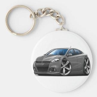 Porte-clés Voiture Gris-Noire en acier de gril de dard de