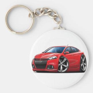 Porte-clés Voiture Rouge-Noire de gril de dard de Dodge