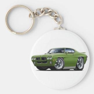 Porte-clés Voiture verte de 1970 GTO