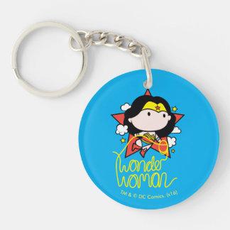 Porte-clés Vol de femme de merveille de Chibi avec le lasso