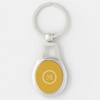 Porte-clés Votre à extrémité élevé doré initial coloré