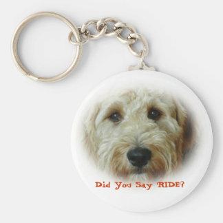 Porte-clés Vous a faits pour dire le chien drôle de TOUR
