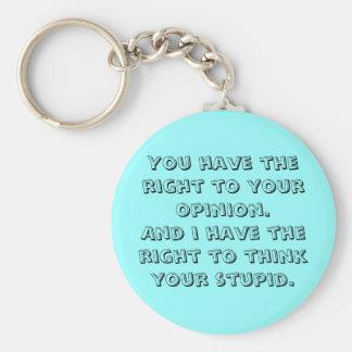 Porte-clés Vous avez le droit à votre avis. Et j'ai t…
