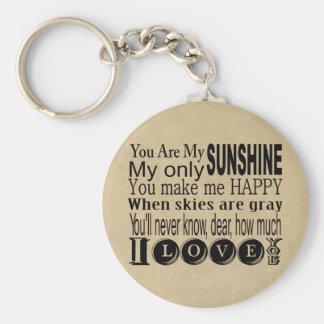 Porte-clés Vous êtes mon habillement et cadeaux de soleil