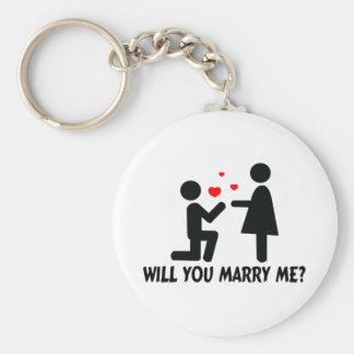 Porte-clés Vous m'épouserez avez plié l'homme et la femme de