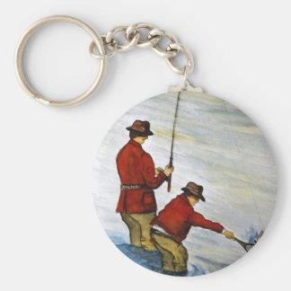 Porte-clés Voyage de pêche de père et de fils