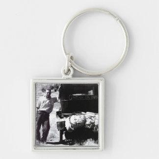 Porte-clés Voyage par la route vintage Orégon de porte - clés