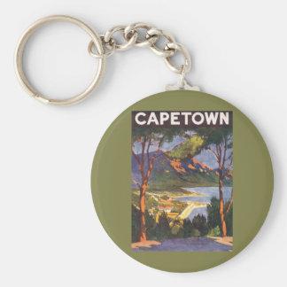 Porte-clés Voyage vintage, Cape Town, une ville en Afrique du