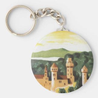 Porte-clés Voyage vintage, château allemand, Bavière