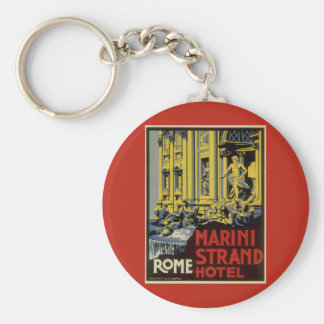 Porte-clés Voyage vintage, hôtel de brin de Marini, Rome,