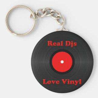 Porte-clés Vrai porte - clé de vinyle d'amour de Djs