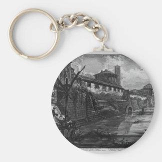 Porte-clés Vue de l'île du Tibre par Giovanni Battista Pira