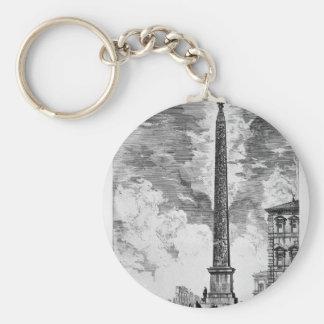Porte-clés Vue du carré et de la basilique de St John Latera