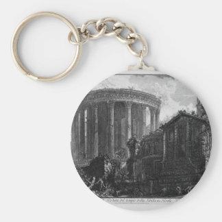 Porte-clés Vue du temple de la sibylle chez Tivoli par Giova
