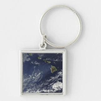 Porte-clés Vue satellite de brouillard volcanique