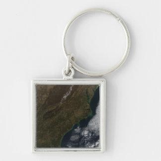 Porte-clés Vue satellite de l'état uni du sud-est