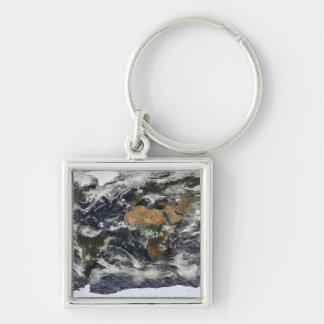 Porte-clés Vue satellite détaillée de la terre