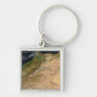 Porte-clés Vue satellite du Maroc