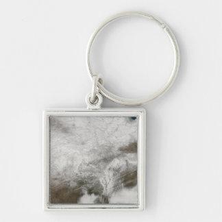 Porte-clés Vue satellite d'une tempête grave d'hiver