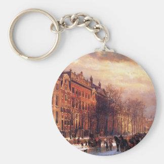Porte-clés Vue sur Heerengracht à Amsterdam par Cornelis