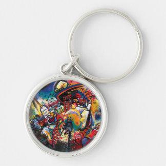 Porte-clés Wassily Kandinsky - art abstrait de paysage urbain