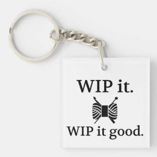 Porte-clés WIP il bon • Métiers de crochet de Knit