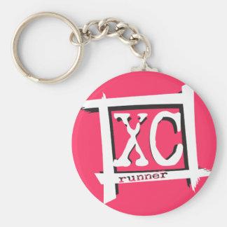 Porte-clés XC coureur de pays croisé