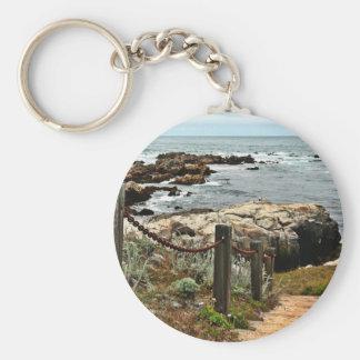Porte-clés zazzle côtier d'étapes
