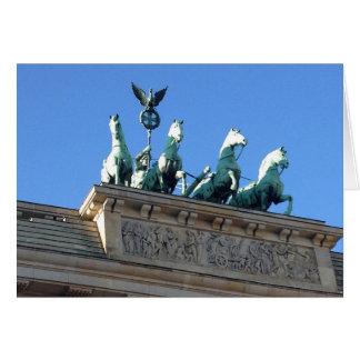 Porte de Brandebourg - Carte de voeux vierge