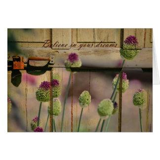 Porte en bois florale inspirée carte
