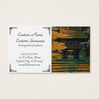 Porte japonaise orientale fraîche de tombeau de cartes de visite