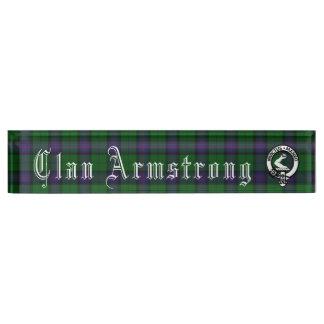 Porte-nom Pour Bureau Plaque signalétique de bureau d'Armstrong de clan