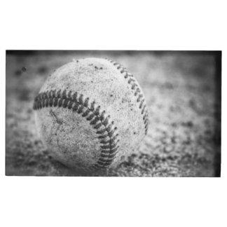 Porte-numéro De Table Base-ball en noir et blanc