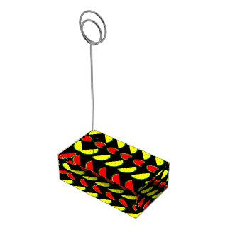 Porte-numéro De Table Pastèque colorée