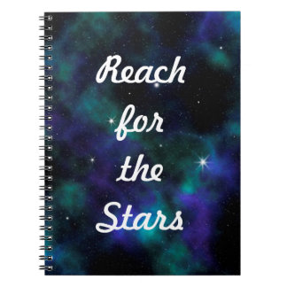 Portée pour le carnet de galaxie d'étoiles