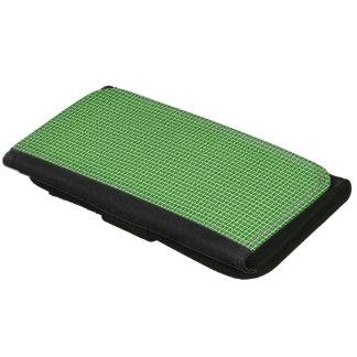 Portefeuille En Cuir Classique-Vert-Plaid-Portefeuille-Multi-Styles